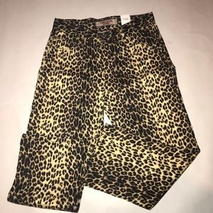 Vintage Paris Blues leopard jeans